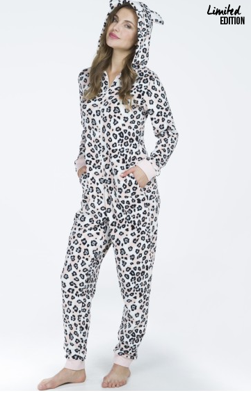 Onesie, fleece, leopard, limited edition, Hunkemöller