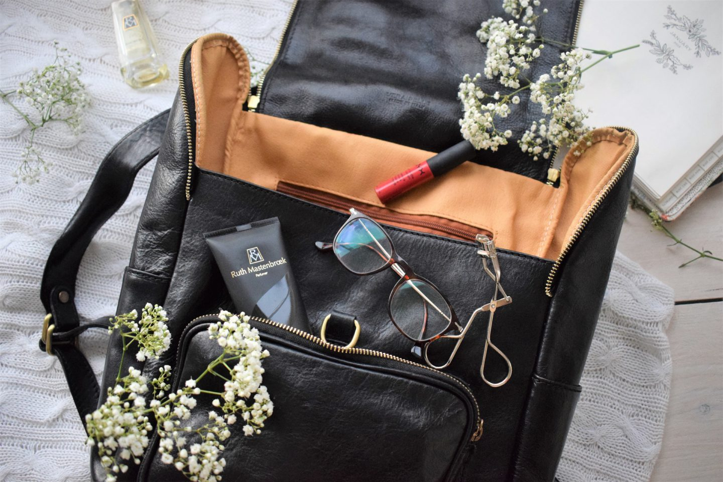 Leren rugzak, Venetië, shopping, what's in my bag?
