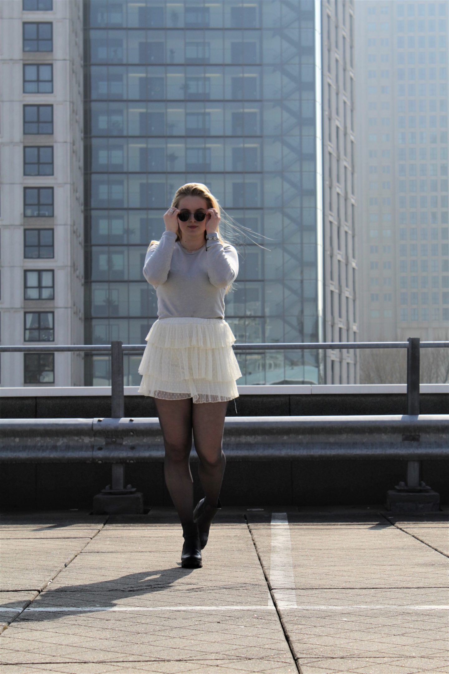 Rotterdam, skyscrapers, outfit of the day, ballerina, rockchick, leren jasje, lenteoutfit