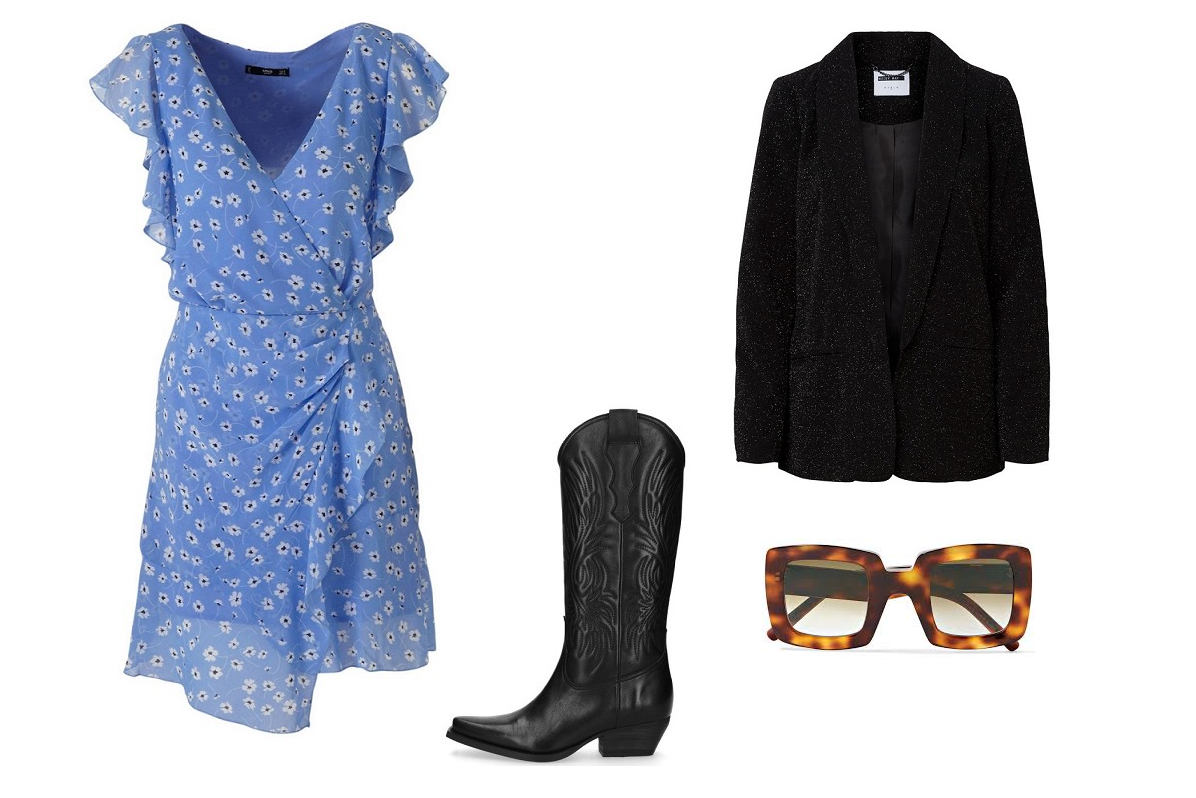 How to style cowboy boots, blazer, Sacha